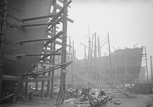 boat yard during world war II